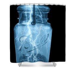 Jarred Lightning Shower Curtain by Jack Zulli