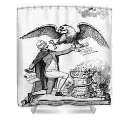Jefferson: Cartoon, 1800 Shower Curtain by Granger