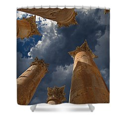 Shower Curtain featuring the photograph Jerash by David Gleeson