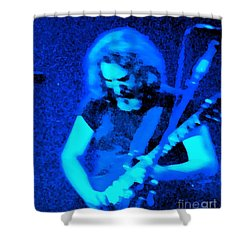Shower Curtain featuring the photograph The Man In Blue by Susan Carella