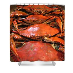 Shower Curtain featuring the photograph Crab Dinner Ocean Seafood  by Susan Carella