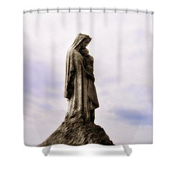 Jesus And Mary Shower Curtain by Bill Cannon