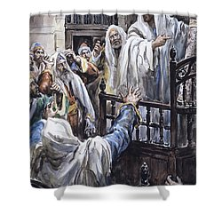 Jesus  Shower Curtain by Henry Coller