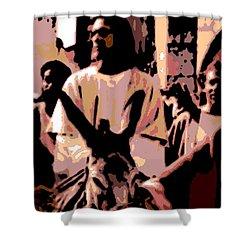Jesus Rides Into Jerusalem Shower Curtain by George Pedro
