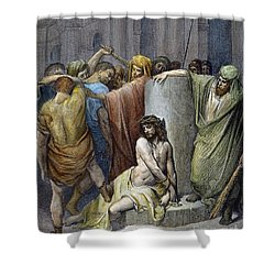 Jesus: Scourging Shower Curtain by Granger