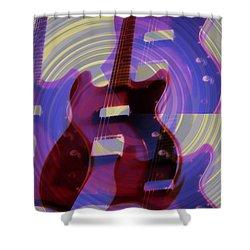 Jet Screamer - Guild Jet Star Shower Curtain by Bill Cannon