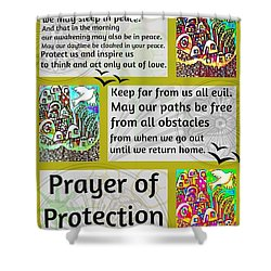 Jewish Prayer Of Protection City Of Jerusalem Gold Shower Curtain