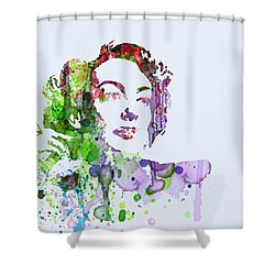 Joan Crawford Shower Curtain by Naxart Studio