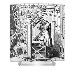 Johannes Hevelius And His Assistant Shower Curtain by Science Source