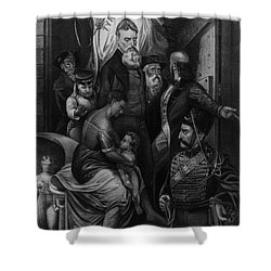 John Brown Meeting Slave Mother Shower Curtain by Photo Researchers