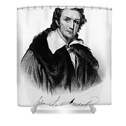 John James Audubon, French-american Shower Curtain by Photo Researchers, Inc.
