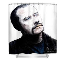 John Travolta In The Taking Of Pelham 123  Shower Curtain by Jim Fitzpatrick