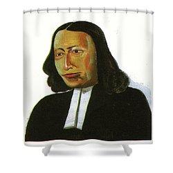 John Wesley Shower Curtain by Emmanuel Baliyanga