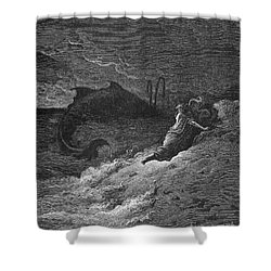 Jonah & The Whale Shower Curtain by Granger