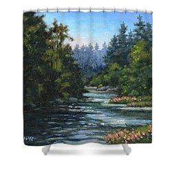 Jones' Creek Shower Curtain by Richard De Wolfe