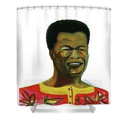 Jose Belo Chipenda Shower Curtain by Emmanuel Baliyanga