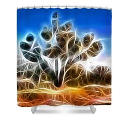 Joshua Tree Shower Curtain by Methune Hively