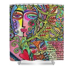 Journey Of The Heart Shower Curtain by Sandra Silberzweig