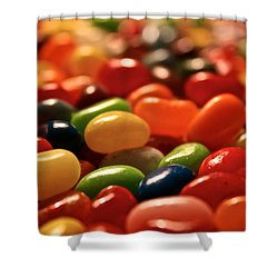 Jubilant Jelly Beans Shower Curtain by Susan Herber