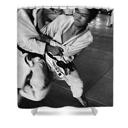 Judo Shower Curtain by Bernard Wolff