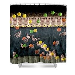 Juggler Shower Curtain by Ted Kinsman