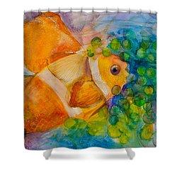 Juicy Snack IIi Shower Curtain by Claudia Smaletz