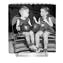 Junior Boxer, 1939 Shower Curtain by Granger
