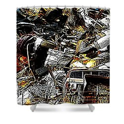Shower Curtain featuring the photograph Junky Treasure 2 by Lydia Holly