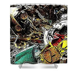 Shower Curtain featuring the photograph Junky Treasure by Lydia Holly