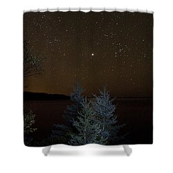 Jupiter  Over Otter Point 2 Shower Curtain by Brent L Ander