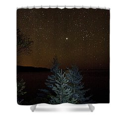 Jupiter  Over Otter Point 3 Shower Curtain by Brent L Ander