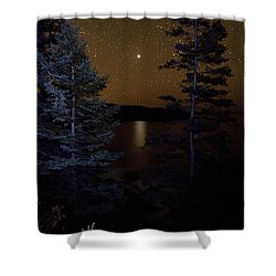 Jupiter Rising Over Otter Point Shower Curtain by Brent L Ander