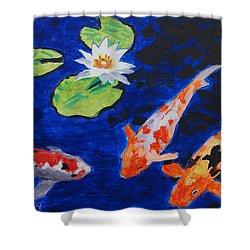 Just Being Koi Shower Curtain
