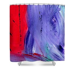 Shower Curtain featuring the painting Just Color by Carolyn Repka