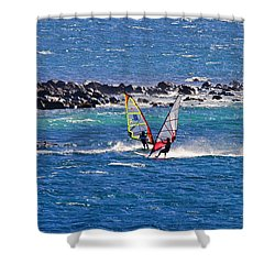 Just Passing By Shower Curtain by Mike  Dawson