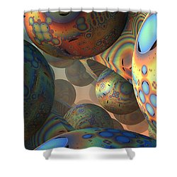 Just Wondering Shower Curtain by Lyle Hatch