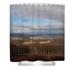 Just Your Typical View Shower Curtain by Robert Margetts