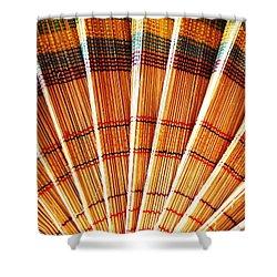 Jute Hand Fan Shower Curtain