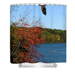 Shower Curtain featuring the photograph Juvenile And Fishermen by Randall Branham
