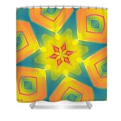 Kaleidoscope Series Number 8 Shower Curtain by Alec Drake