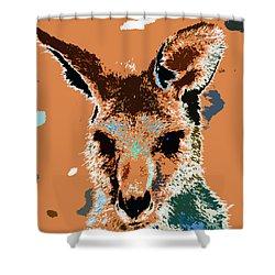 Kanga Roo Shower Curtain by David Lee Thompson