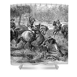 Kangaroo Hunting, 1876 Shower Curtain by Granger