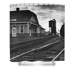 Kansas Train Station Shower Curtain by Myron Wood and Photo Researchers