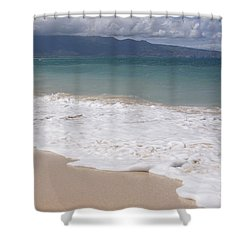 Kapukaulua - Purely Celestial - Baldwin Beach Paia Maui Hawaii Shower Curtain by Sharon Mau