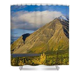 Kathleen Lake, Kluane National Park Shower Curtain by John Sylvester