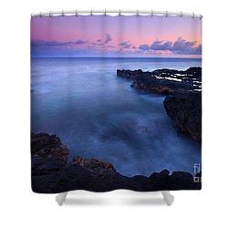 Kauai  Pastel Tides Shower Curtain by Mike  Dawson