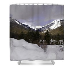 Kawuneeche Valley - Rocky Mountain National Park Shower Curtain by Ellen Heaverlo