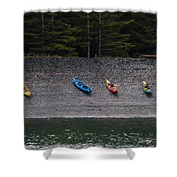 Kayak Shore Shower Curtain