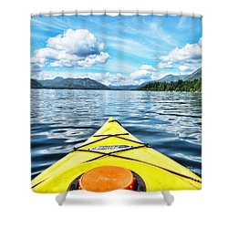 Kayaking In Bc Shower Curtain