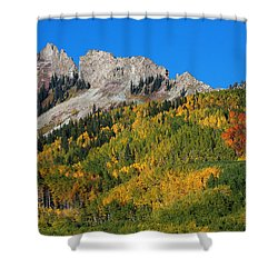 Shower Curtain featuring the photograph Kebler Pass by Jim Garrison